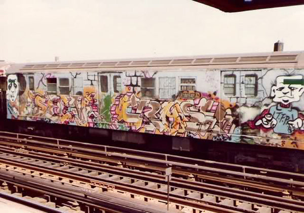 CRASH New York Subway Graffiti Piece from early 80's