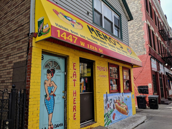 Chicago Mural Districts - Pilsen District - Memo's Hotdogs by MATR and KOZMO