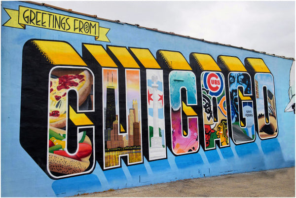 Chicago Mural Districts - Logan Square + Wicker Park - Victor Ving Lisa Beggs
