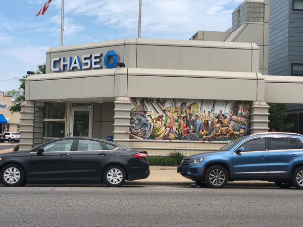 Chicago Mural Districts - Logan Square + Wicker Park - Chase Bank