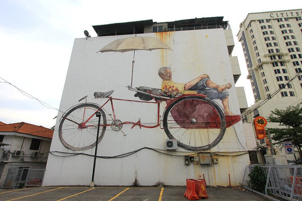 Edward Zacharevic Large scale mural installation