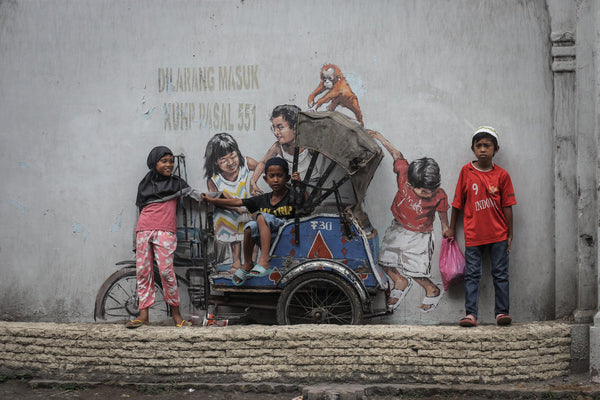 Edward Zacharevic - Mural in Medan Indonesia