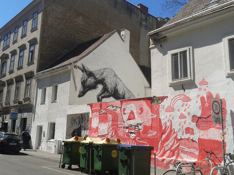 Fox by Artist ROA in Vienna