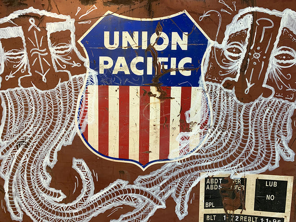 GATS Union Pacific rail car graffiti