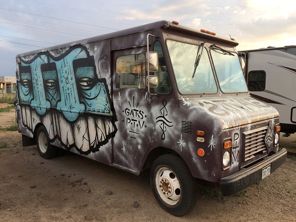 GATS Totem Mask Character Graffiti delivery truck in Denver