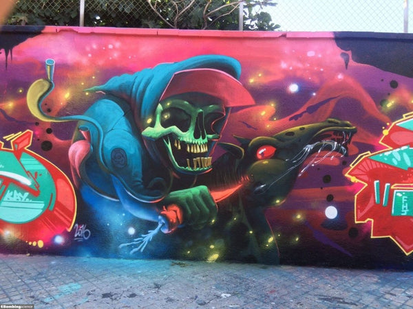 Harry Bones Graffiti Mural 001