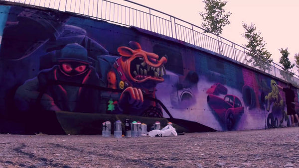 Harry Bones x Saturno Graffiti Mural