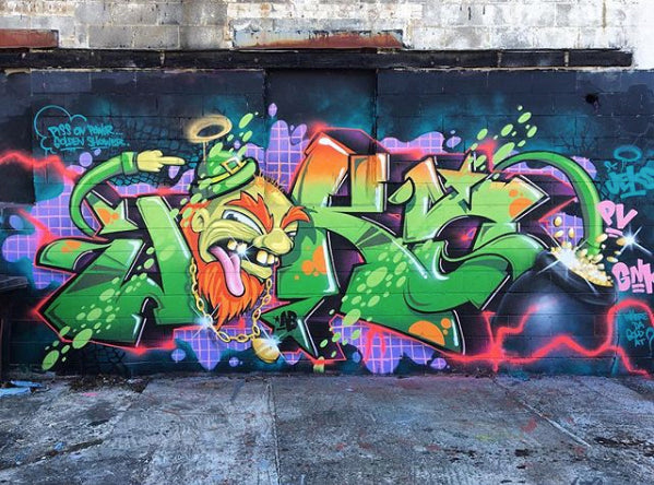 Graffiti Piece by JEKS ONE from Greensboro, NC