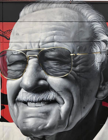 Stan Lee Portrait by Graffiti Artist and Muralist JEKS One