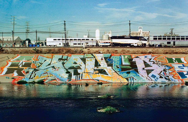 LA River Graffiti Piece by SABER AWR MSK