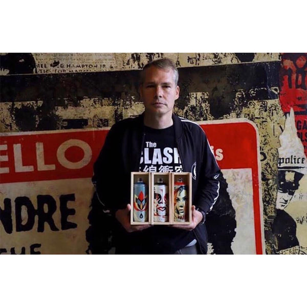 Shepard Fairey OBEY x Beyond the Streets x MTN Colors Limited Edition Spray Can release