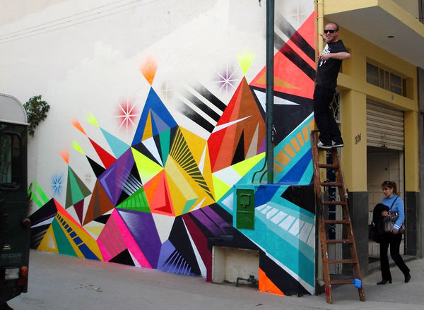 Matt W Moore - Mural - colorful geometry