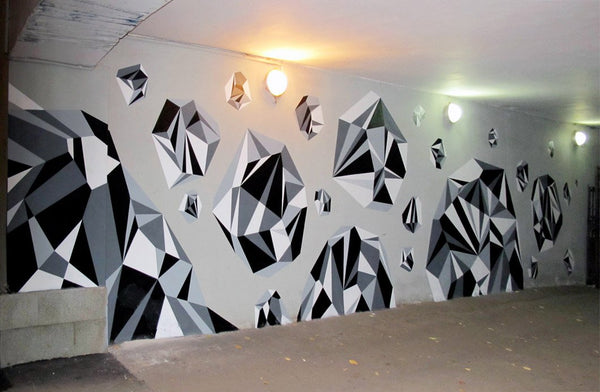 Matt w Moore Murals - Colorful Geometry 2