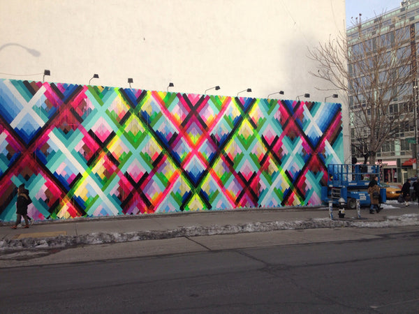 Maya Hayuk Houston Bowery Wall 2014