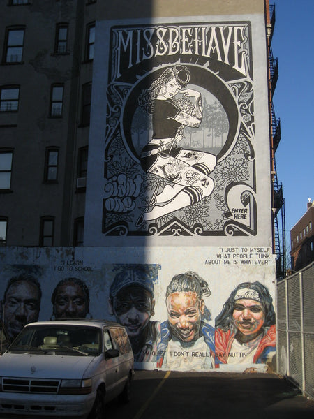 Mike Giant Missbehave Mural NYC