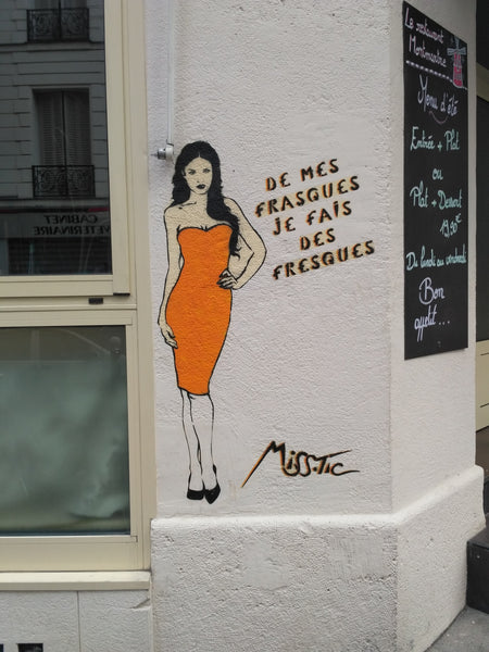 Miss Tic - Stencil Graffiti Street Art