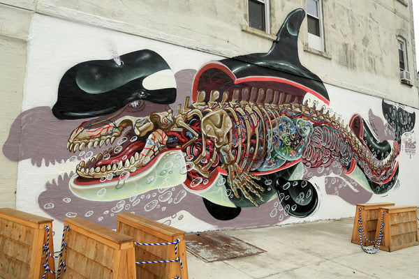 NYCHOS - Orca Whale Dissected Mural