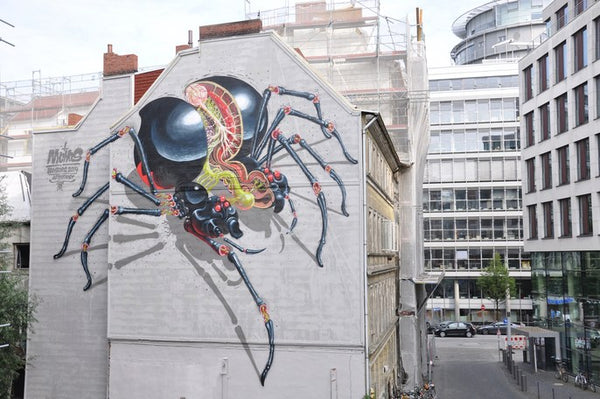 NYCHOS - Spider Dissected Mural