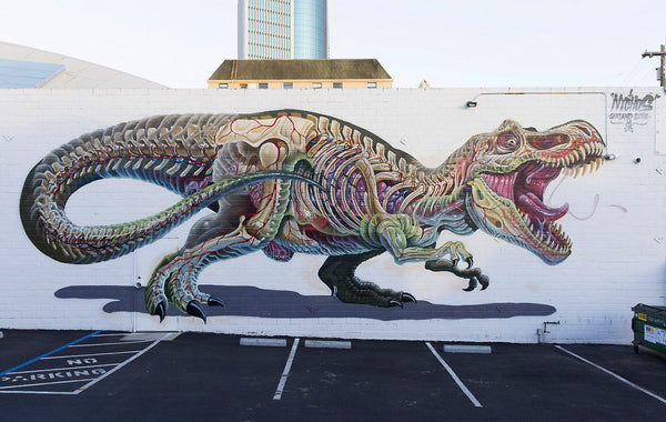 NYCHOS - Dinosaur Dissected Mural