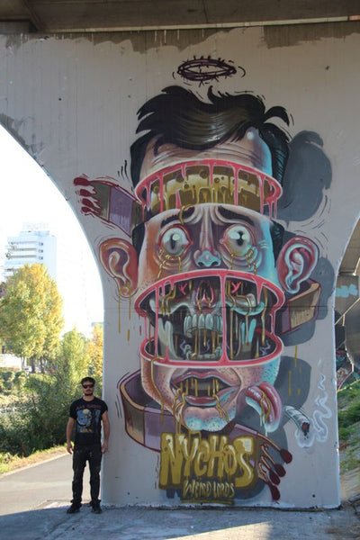 NYCHOS - Face Dissected Mural