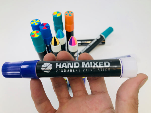 Learn more about Hand Mixed Solid Marker Split Streaks