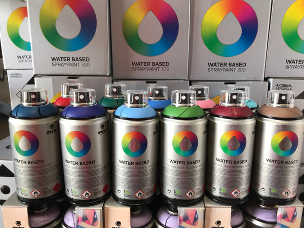 Montana Colors Water Base Spray Paint Cans Available in 46 New Colors!