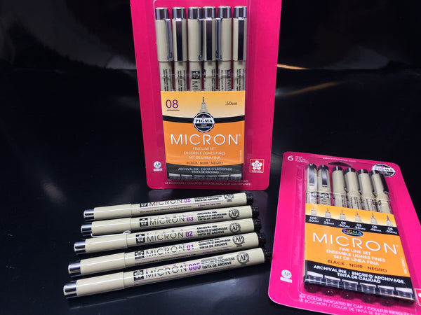 Sakura PIGMA Micron Markers and Pens for Drawing and detail lines