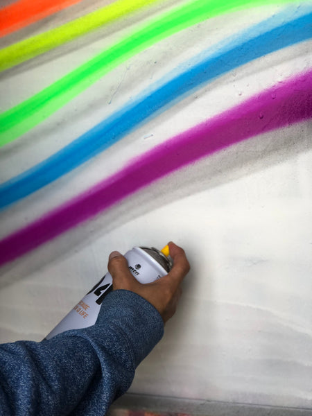 Graffiti Art and Fine Art Uses For Montana Colors MTN 94 Transparent Spray Paint
