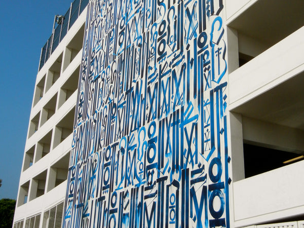 West Hollywood Murals - RETNA - West Hollywood Library Garage
