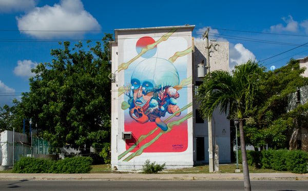 SMITHE ONE Mural Cancun Mexico