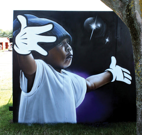 SMUG ONE Murals - Child with Mickey Hands