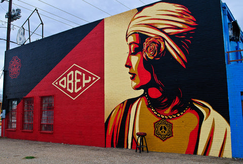 Shepard Fairey Obey Giant Mural