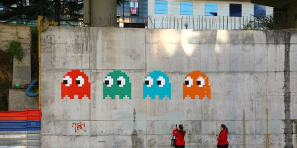 Space Invader Street Artist Ghost Characters