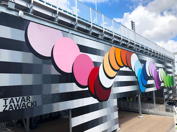 Tavar (ABOVE) Zawacki Mural for US Open Tennis in Miami, Florida
