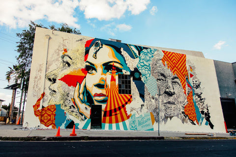 Vhils and Shepard Fairey in Los Angeles
