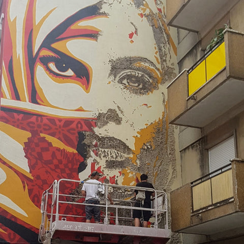 Vhils and Shepard Fairey in Portugal