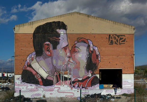 aryz-mural - abandoned-factory