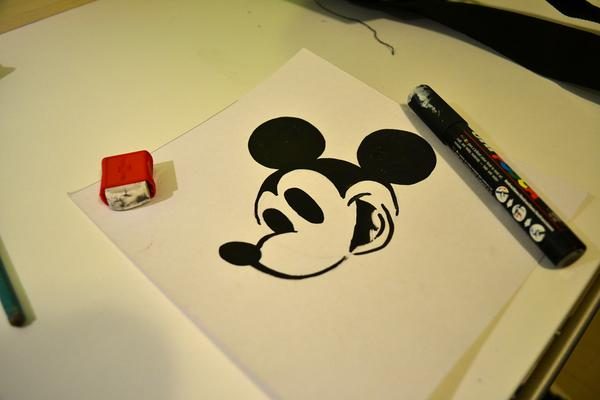 Create Your Stencil Drawing on Cardboard or similar durable material