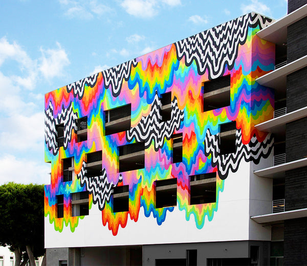 Culver City Murals - Jen Stark - Technicolor Drip