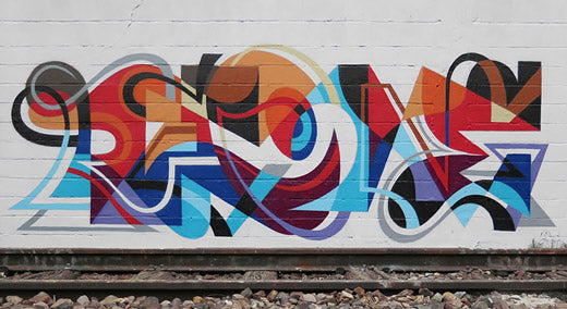 Matt W Moore - Mural - Letterforms
