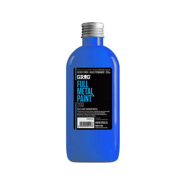 Grog Full Metal Paint Refill - 200ml - Diving Blue