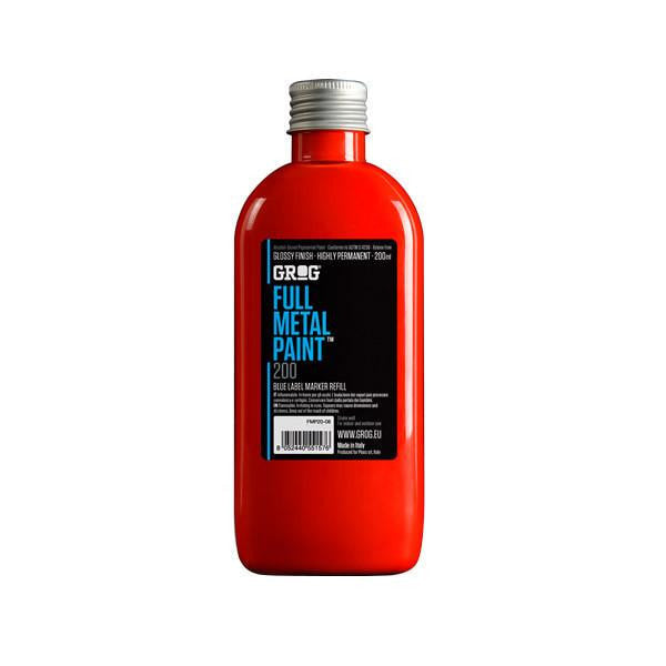 Grog Full Metal Paint Refill - 200ml - Ferrari Red