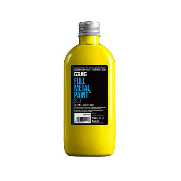 Grog Full Metal Paint Refill - 200ml - Flash Yellow