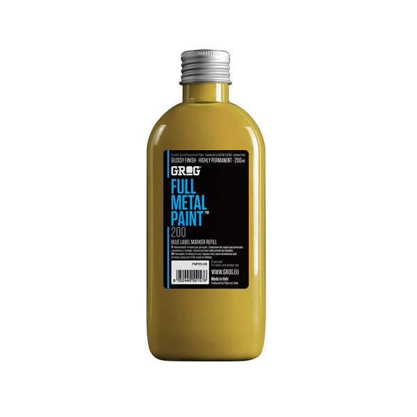 Grog Full Metal Paint Refill - 200ml - Klondike Gold
