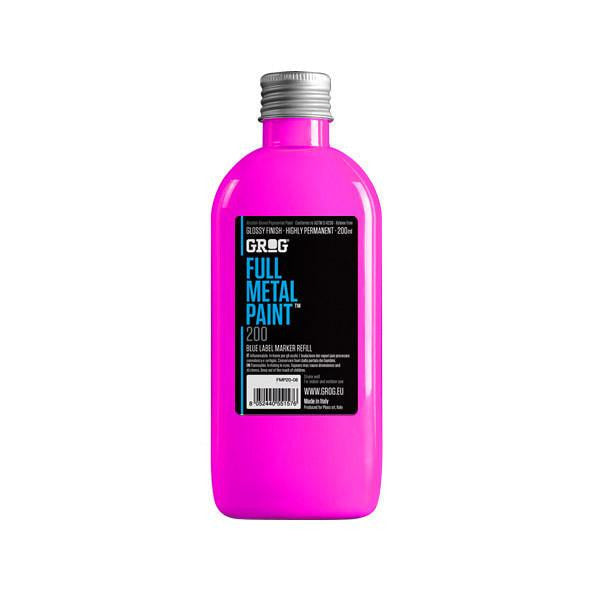 Grog Full Metal Paint Refill - 200ml - Neon Fuchsia