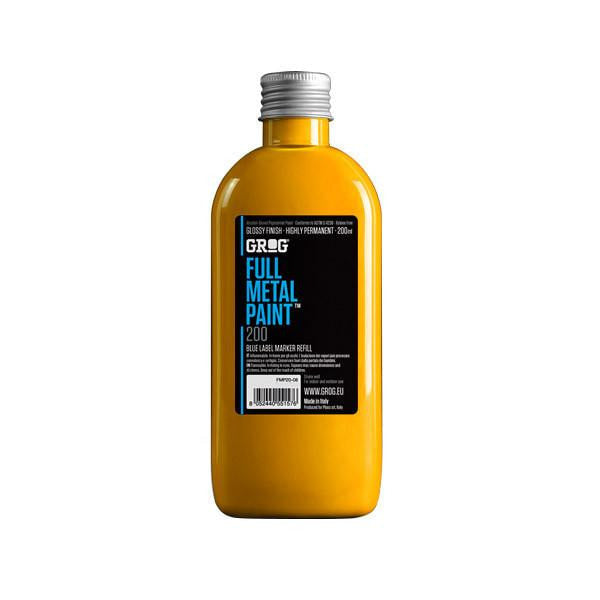 Grog Full Metal Paint Refill - 200ml - Sunray Yellow