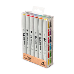 MTN 94 Graphic Marker 12 Pack - Primary