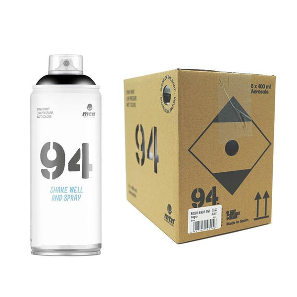 MTN 94 Black 400ml 6 Pack | Spray Planet
