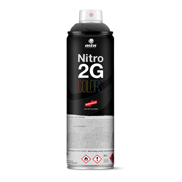 MTN Nitro 2G Colors Spray Paint - Black | Spray Planet