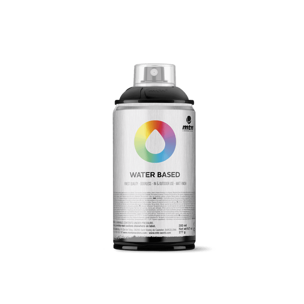 MTN Water Based 300 Spray Paint - Carbon Black | Spray Planet